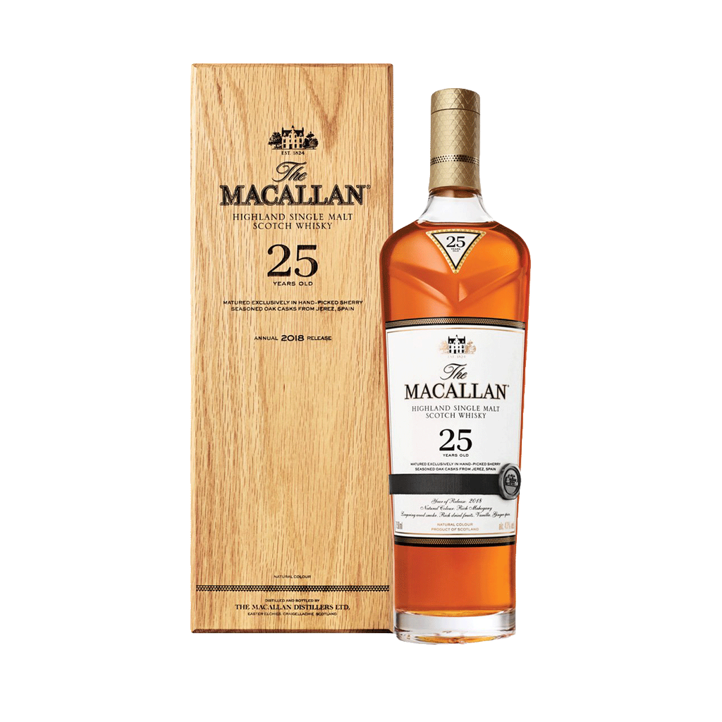 Spirits Macallan Sherry Oak Scotch Single Malt 25 Year