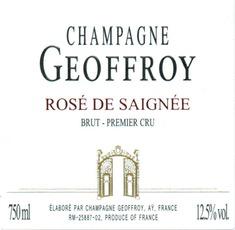 Sparkling Geoffroy Champagne Premier Cru Brut Rose de Saignee