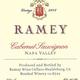 Wine Ramey Cellars Cabernet Sauvignon Napa Valley 2014
