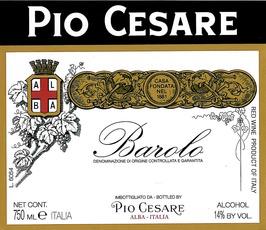 Wine Pio Cesare Barolo 2014
