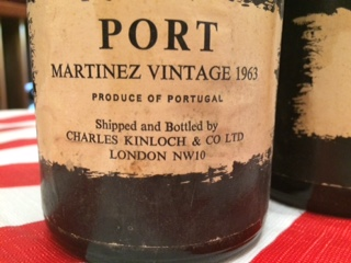 Wine Martinez Vintage Port 1963