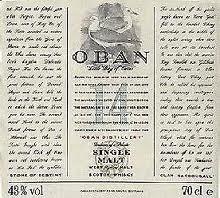 Spirits Oban 14 Year Scotch