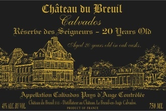 Spirits Chateau du Breuil Calvados XO 20 Years Old Paus d'Auge