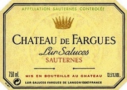 Wine Chateau de Fargues Sauternes 1990
