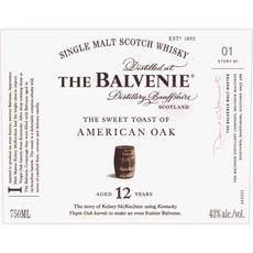 Spirits Balvenie 12 Year Old Sweet Toast of American Oak Single Malt Scotch
