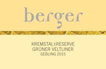 Wine Weingut Berger Gruner Veltliner Reisenthal Kremstal 2016