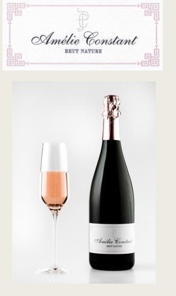 Sparkling Amelie Constant Brut Nature Rose Cremant de Bordeaux 2016