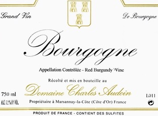 Wine Charles Audoin Bourgogne Rouge 2017