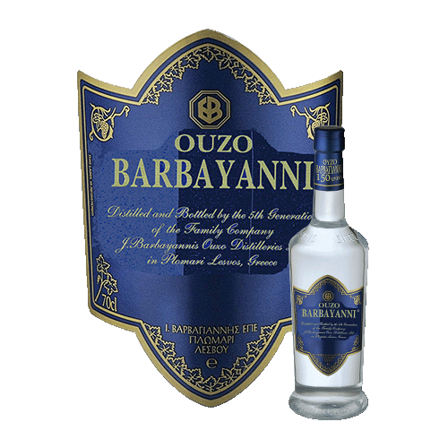 Spirits Barbayanni Ouzo Blue