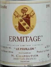 Wine CHAPOUTIER ERMITAGE 'LE PAVILLON' 1989 1.5L (autographed)