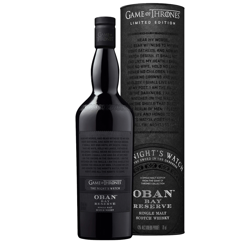 Spirits Game of Thrones Oban Little Bay Reserve Single Malt Night Watch Limited Edition