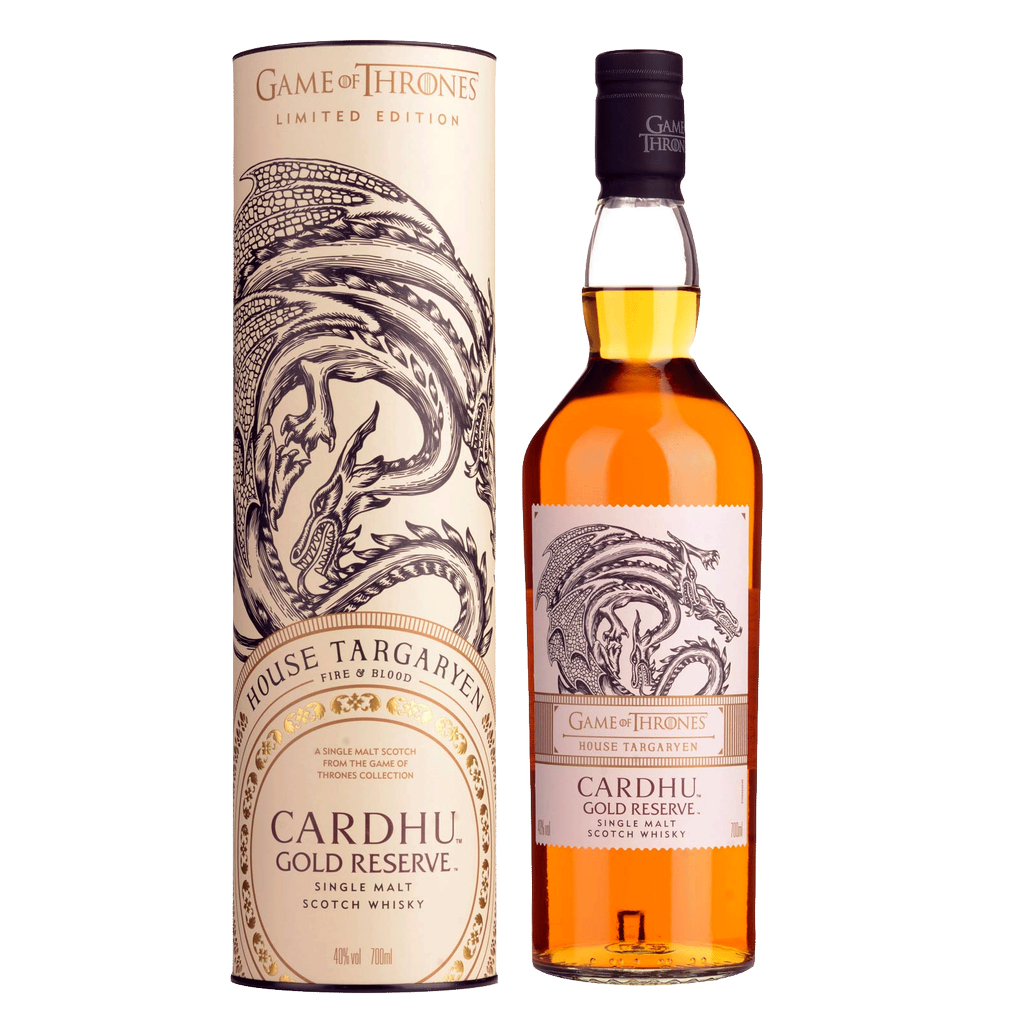 Spirits Game of Thrones House Targaryen Cardhu Gold Reserve Limited Edition Single Malt Scotch