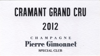 Sparkling Pierre Gimonnet & Fils Champagne Grand Cru Brut Special Club Cramant 2012