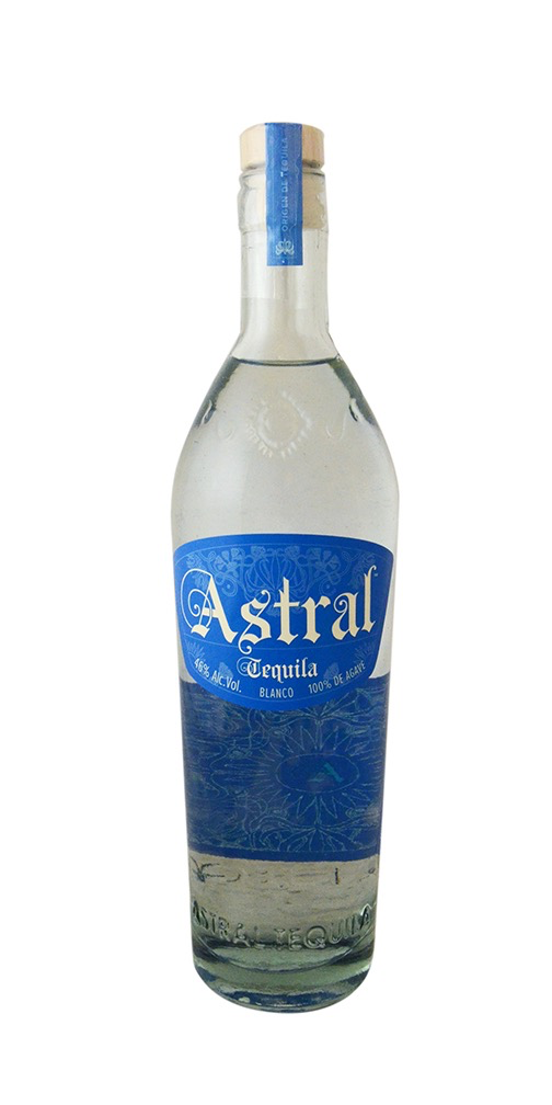 Spirits Astral Tequila Blanco with 2 glasses