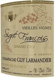 Sparkling Guy Larmandier Champagne Cuvee Signe Francois Vieilles Vignes Grand Cru Blanc de Blancs Brut Zero 2008