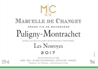 Wine Marcelle de Changey Puligny Montrachet Les Nosroyes 2017