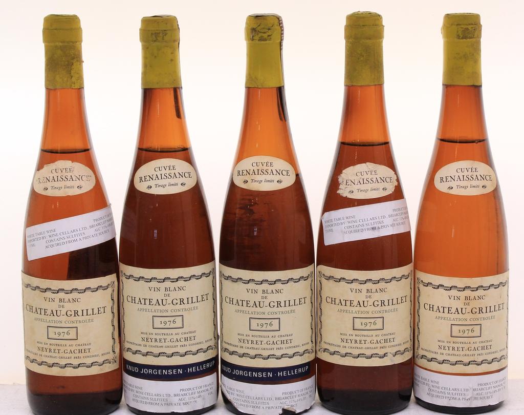 Wine Chateau Grillet Cuvee Renaissance 1976