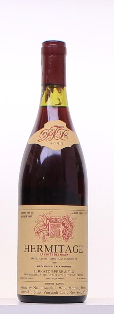 Wine Ferraton Les Miaux Hermitage 1990