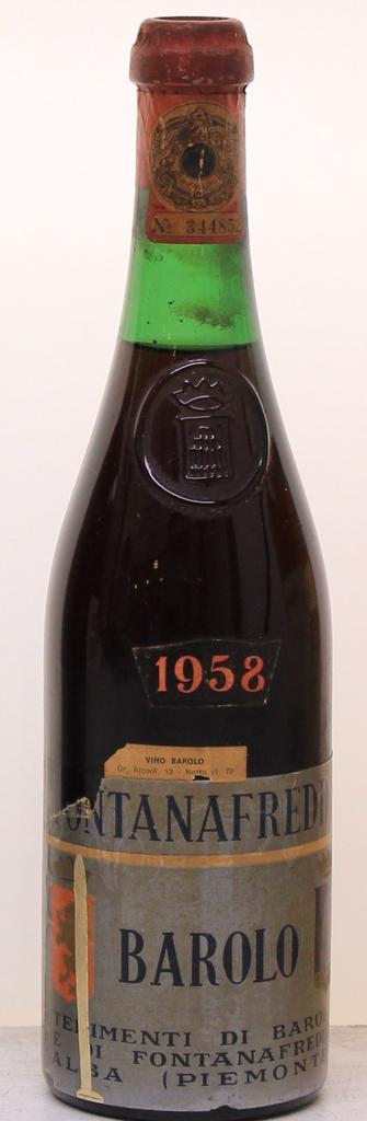 Wine Fontanafredda Barolo 1958