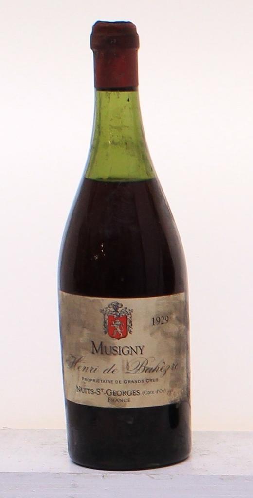 Wine Maison Henri de Bahezre le Musigny Grand Cru 1929