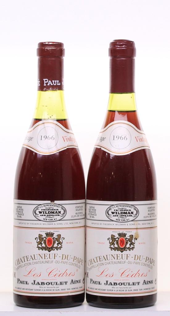 Wine Jaboulet Chateauneuf du Pape Les Cedres 1966