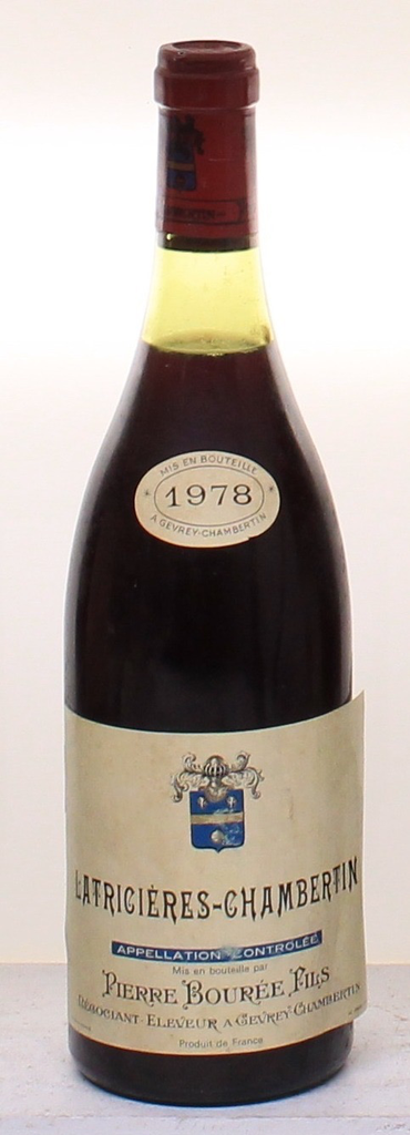 Wine Bouree Latricieres Chambertin Grand Cru 1978