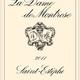 Wine La Dame de Montrose 2011