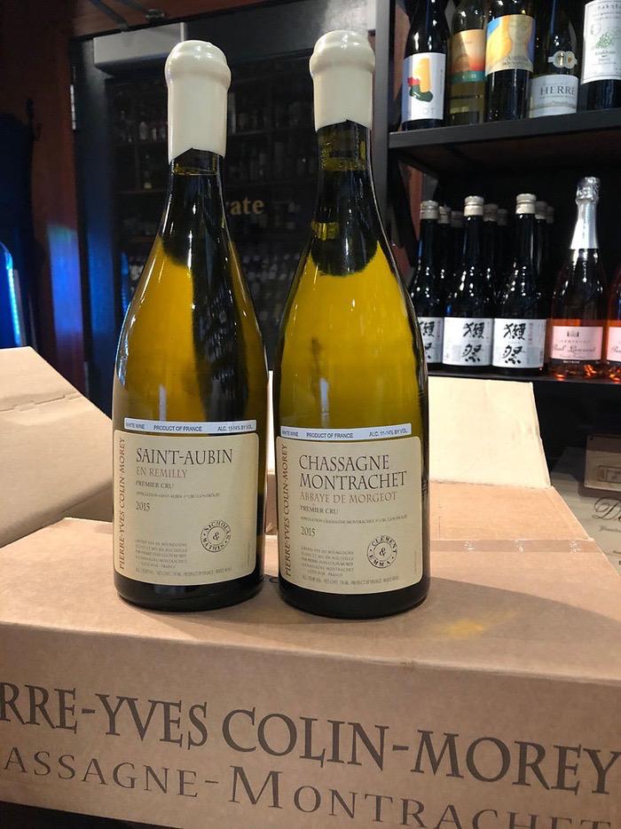 """Wine Pierre-Yves Colin-Morey Chassagne Montrachet Abbaye de Morgeot Premier Cru """"Clement & Emma"""" 2015"""