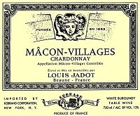 Wine Louis Jadot Macon Villages 2018