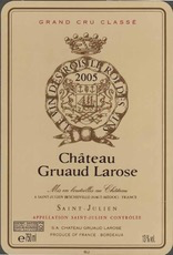 Wine Chateau Gruaud Larose 2005