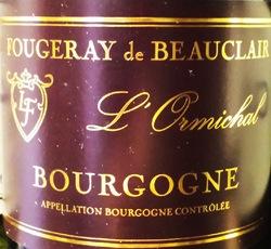 Wine Fougeray de Beauclair Bourgogne Rouge l'Ormichal 2015
