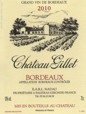 Wine Chateau Gillet Bordeaux 2016 1.5L