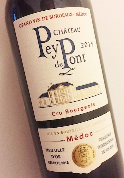 Wine Chateau Pey de Pont Medoc 2015