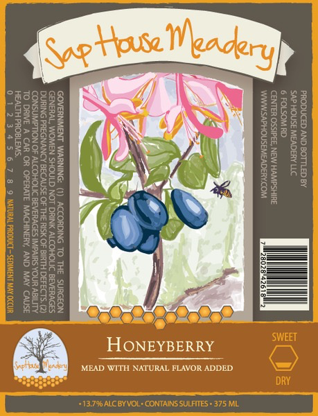 Wine Sap House Honeyberry Mead 375ml