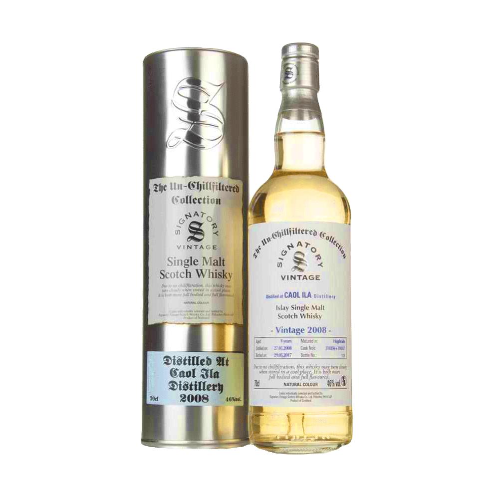 Spirits Unchillfiltered Signatory Caol Ila Single Malt Scotch Whisky 2008 Hogshead 9 Year