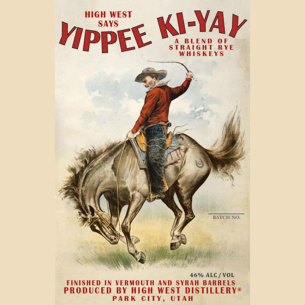 Spirits High West Rye Whiskey Yippee Ki-Yay