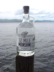 Spirits Lake George Distilling 32 Mile Moonshine 375ml