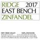 Wine Ridge Vineyards Zinfandel East Bench Dry Creek Valley 2017