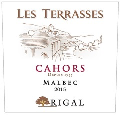Wine Rigal Cahors Les Terrasses 2017