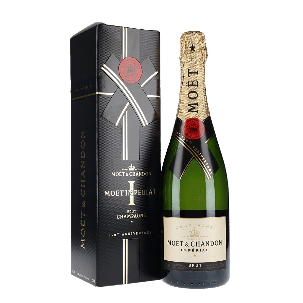Sparkling Moet & Chandon Champagne Brut Imperial 150th Anniversary Gift Box