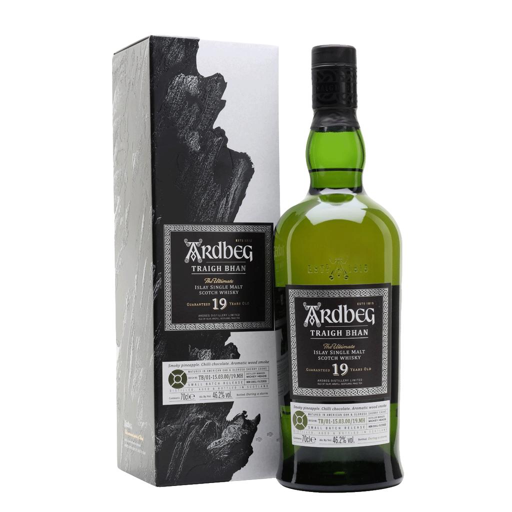 Spirits Ardbeg 19 Year Old Islay Single Malt Scotch Whisky Limited Release Traigh Bhan Gift Box