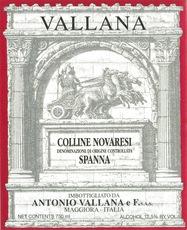 Wine Antonio Vallana e Figlio Colline Novaresi Spanna 2015