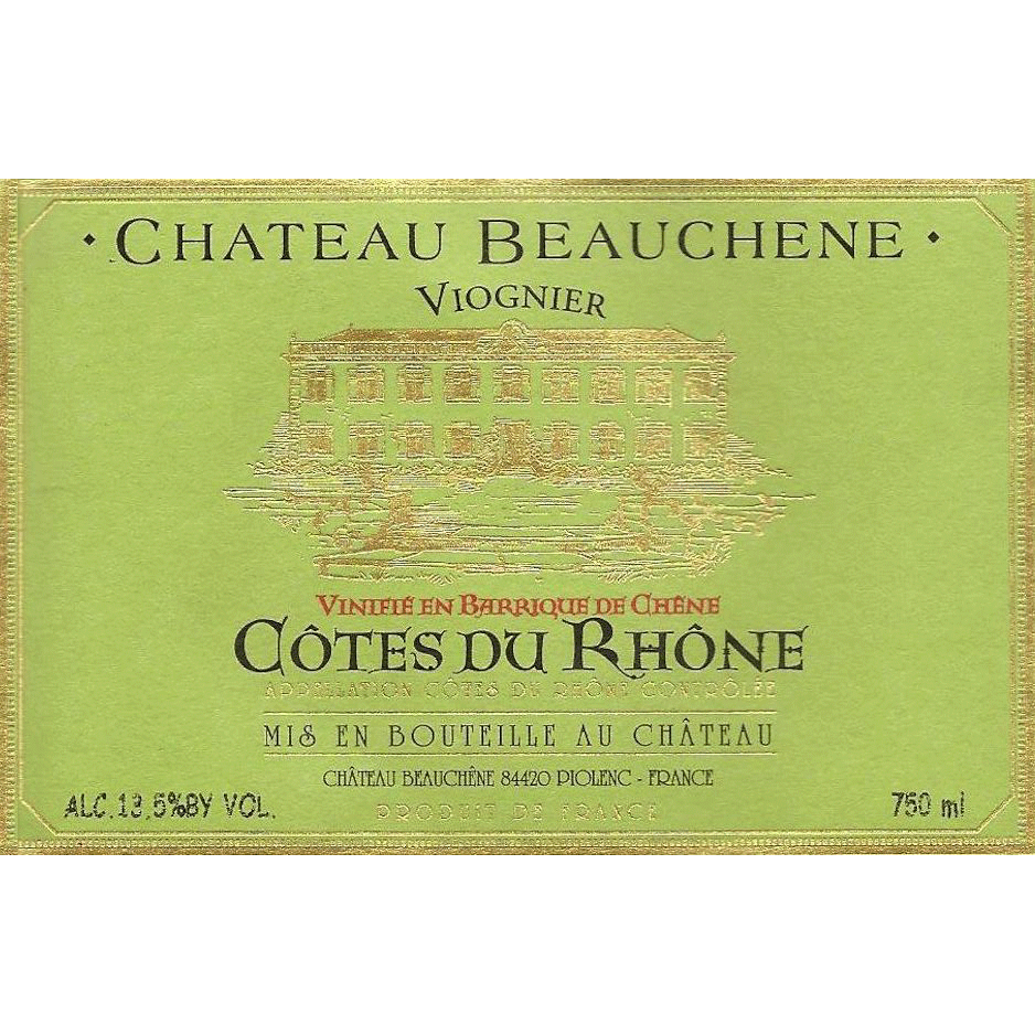Wine Chateau Beauchene Cotes du Rhone Viognier Blanc 2018