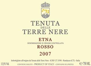 Wine Terre Nere Etna Rosso 2018