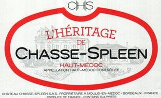 Wine Chateau Chasse Spleen L'Heritage de Chasse Spleen 2014
