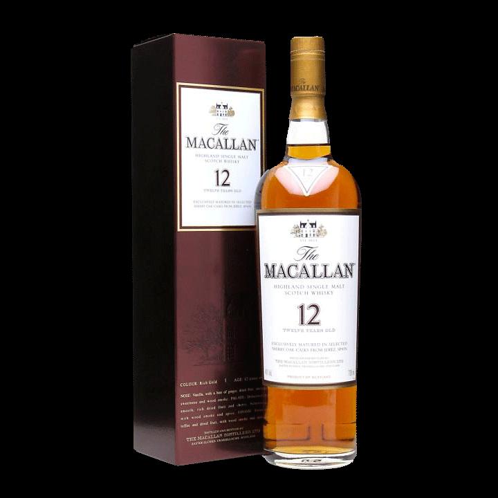 Spirits Macallan Sherry Oak 12 Year Speyside Highland Single Malt Scotch gift box