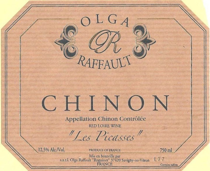 Wine Olga Raffault Chinon Les Picasses 2015