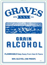 Spirits 190 Graves Grain Alcohol 1.75L