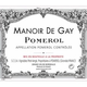 Wine Chateau le Gay Manoir de Gay 2016