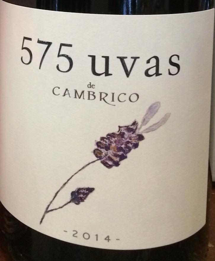 Wine Cambrico 575 Uvas de Cambrico 2014